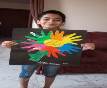 Excellent Art Work on the Topic Tolerance by The Students of The Royal Academy, Ajman