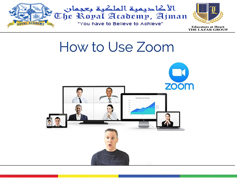 Tutorial: How To Use ZOOM As Student / Parent - The Royal Academy, Ajman