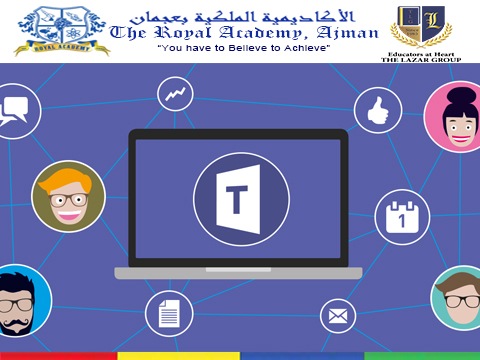 Tutorial: Microsoft Teams Connecting As A Student - The Royal Academy, Ajman.